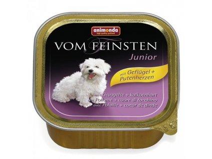 Animonda Vom Feinsten Junior paštika pro psy drůbeží+krůtí srdce 150g