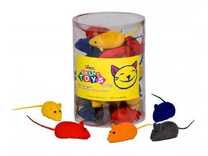 Gimborn barevná myš - hračka pro kočky 5cm