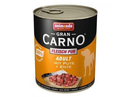 Animonda GranCarno Adult konzerva pro psy hovězí+kachní srdce 400g
