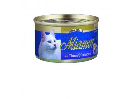 Finnern Miamor Fine Finest tuňák+kalamáry konzerva 100g