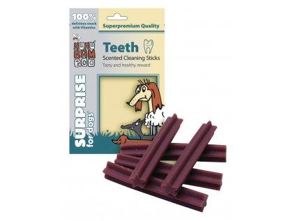 Huhubamboo Teeth - Dentální tyčky na čištění zubů s vůní 75g