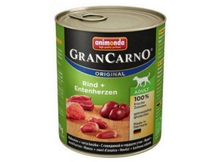Animonda GranCarno Adult hovězí+kachní srdce 800g