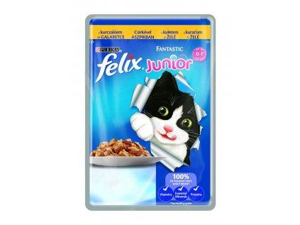 Felix Fantastic Junior kapsička s kuřetem v želé 100 g