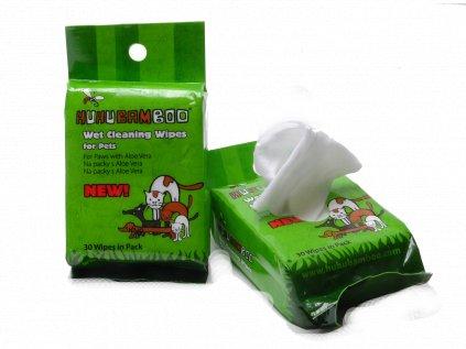 Huhubamboo čistící ubrousky na packy 30ks