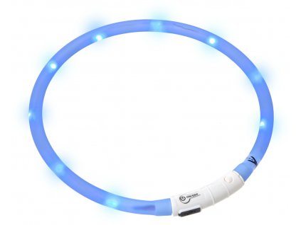 Karlie Visiolight svíticí LED obojek pro psy 70cm modrý