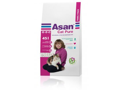 Asan Cat Pure eko-stelivo pro kočky a fretky 45l (9,5kg)