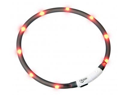 Karlie Visiolight svíticí LED obojek pro psy 70 cm černý