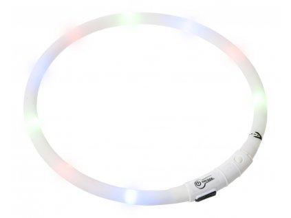 Karlie Visiolight svíticí LED obojek pro psy 70 cm bílý