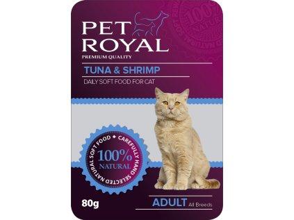 Kapsička Pet Royal Cat tuňák + krevety 80 g