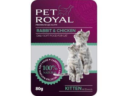Kapsička Pet Royal Cat kralík + kuře 80 g
