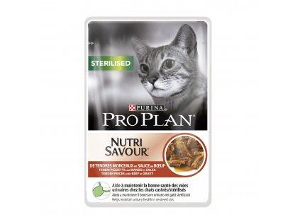Kapsička Purina Pro Plan Cat sterilised hovezi 85g