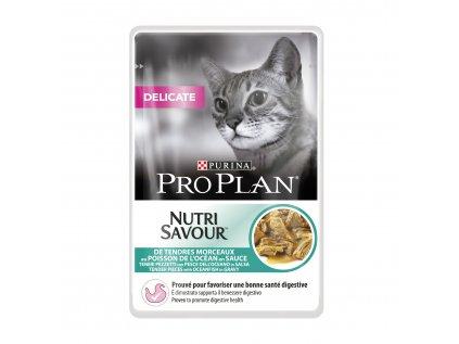 Kapsička Purina Pro Plan Cat DELICATE Mořské ryby 85 g