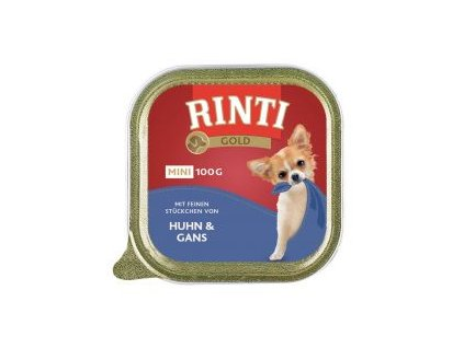 Paštika RINTI GOLD Mini hovezi+perlicka 100g
