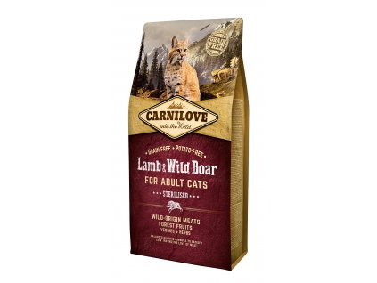 Carnilove Cat Grain Free Lamb&Wild Boar Adult Sterilised 6kg