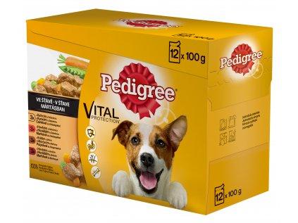 PEDIGREE kapsička 12 pack ve vlastní šťávě - čtyři druhy masa