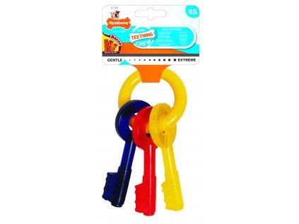 Hračka NYLAB Puppy Teething Keys XS