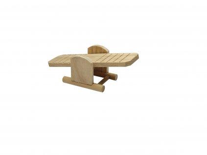 Hračka Huhubamboo pro hlodavce dřevěná houpačka 22x8x7,5cm