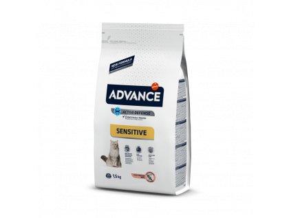 ADVANCE CAT Adult losos a rýže Sensitive 10 kg