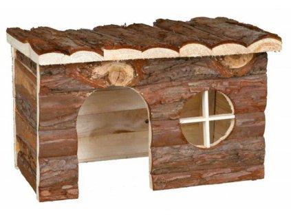 Huhubamboo Dřevěný přírodní domek XL