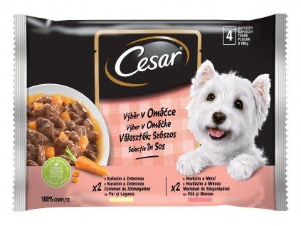 Cesar Selection kapsička v omáčce 4 x 100 g