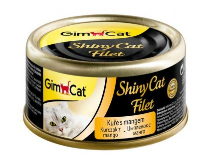 Konzerva Shiny Cat filet kuře s mangem 70 g