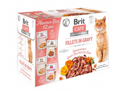 Brit Care Cat Flavour box Fillet in Gravy 12 x 85g