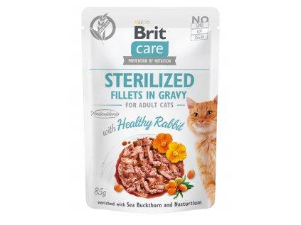 Brit Care Cat Sterilized. Fillets in Gravy Rabbit 85g