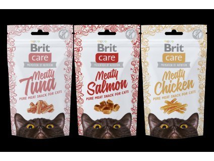 Brit Care Cat Meaty Snack Beef 80g
