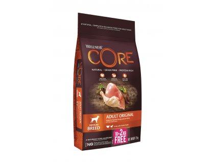 Wellness Core Dog Original krůta a kuře 10+2 kg