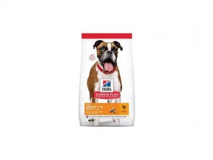 Hill's Canine Adult Light Medium kuře 2,5kg