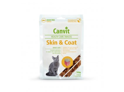 Canvit Health Care Snack Skin & Coat pro kočky 100g