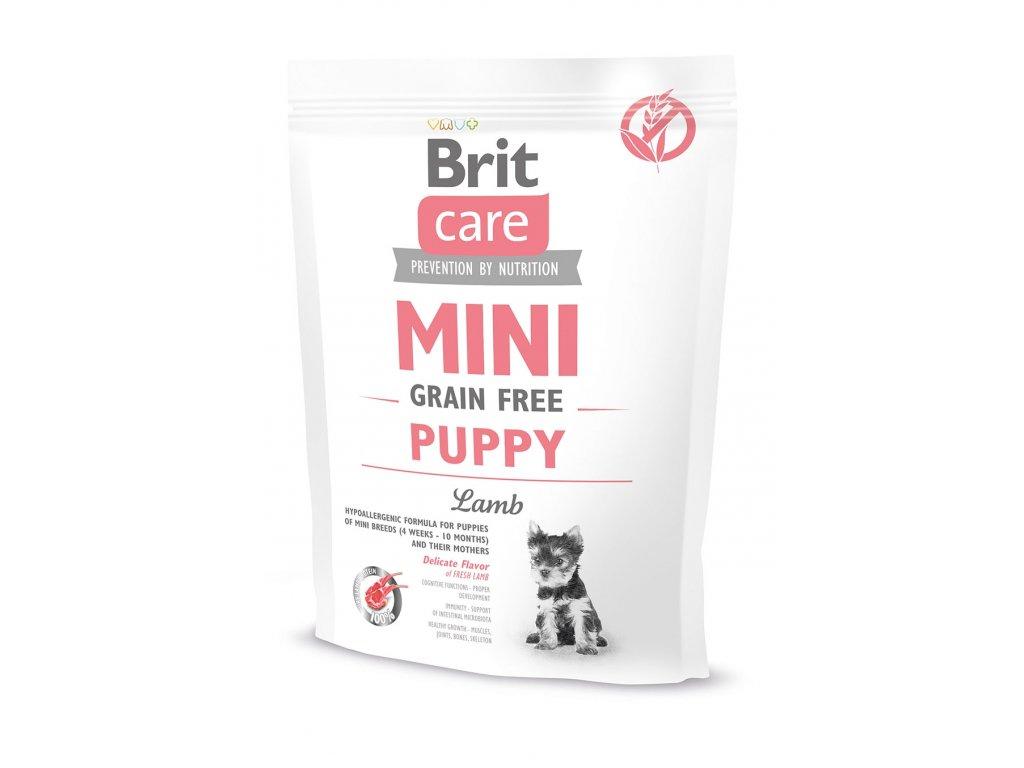 11520 brit care mini grain free puppy lamb 400g