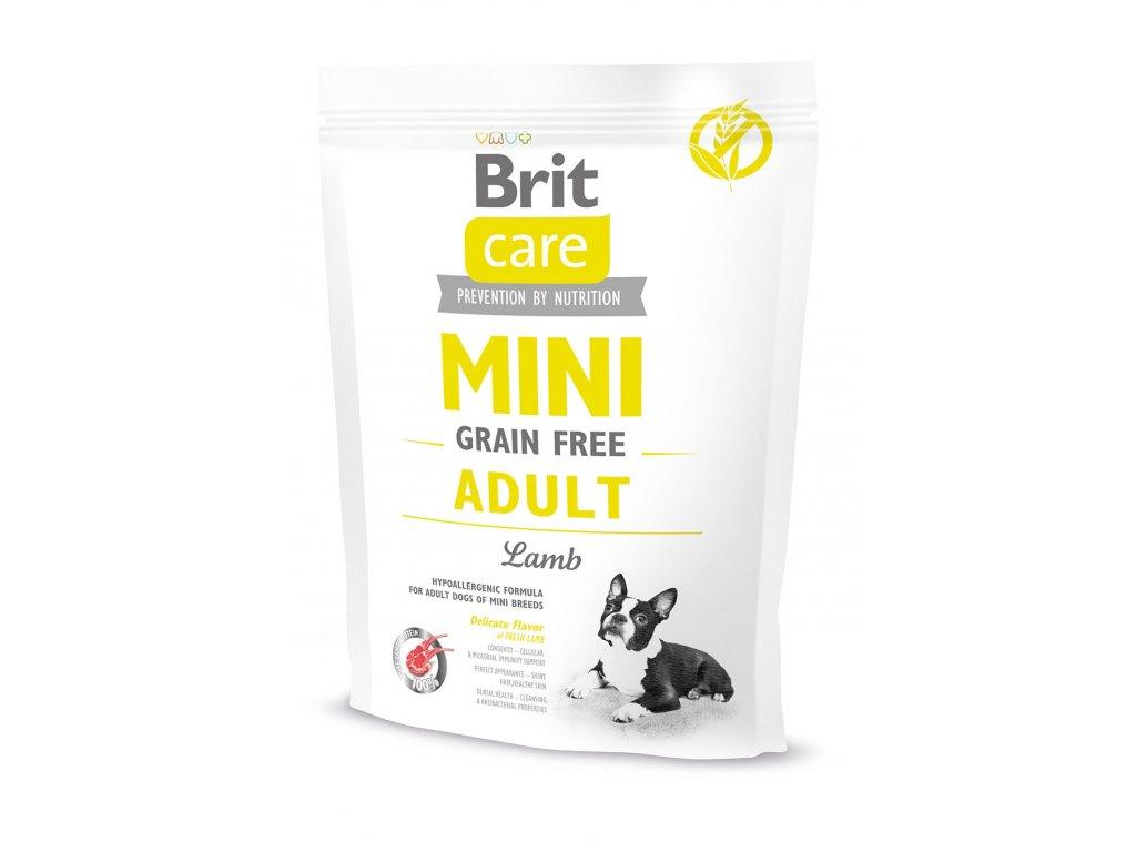 11529 brit care mini grain free adult lamb 400g