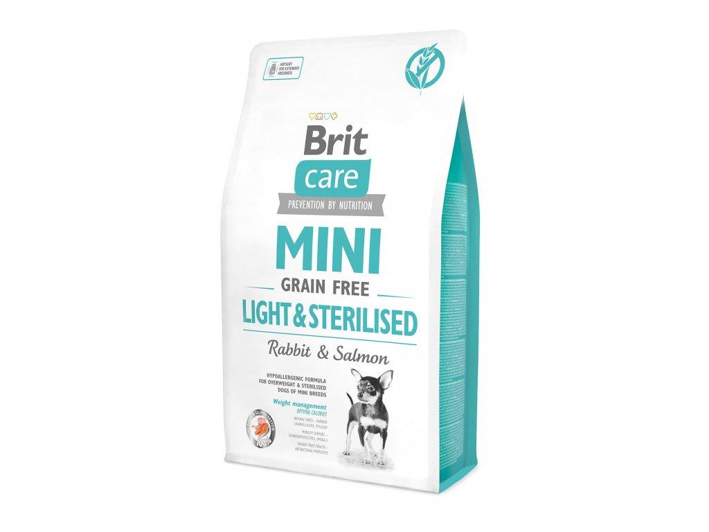 11559 brit care mini grain free light sterilised 2kg