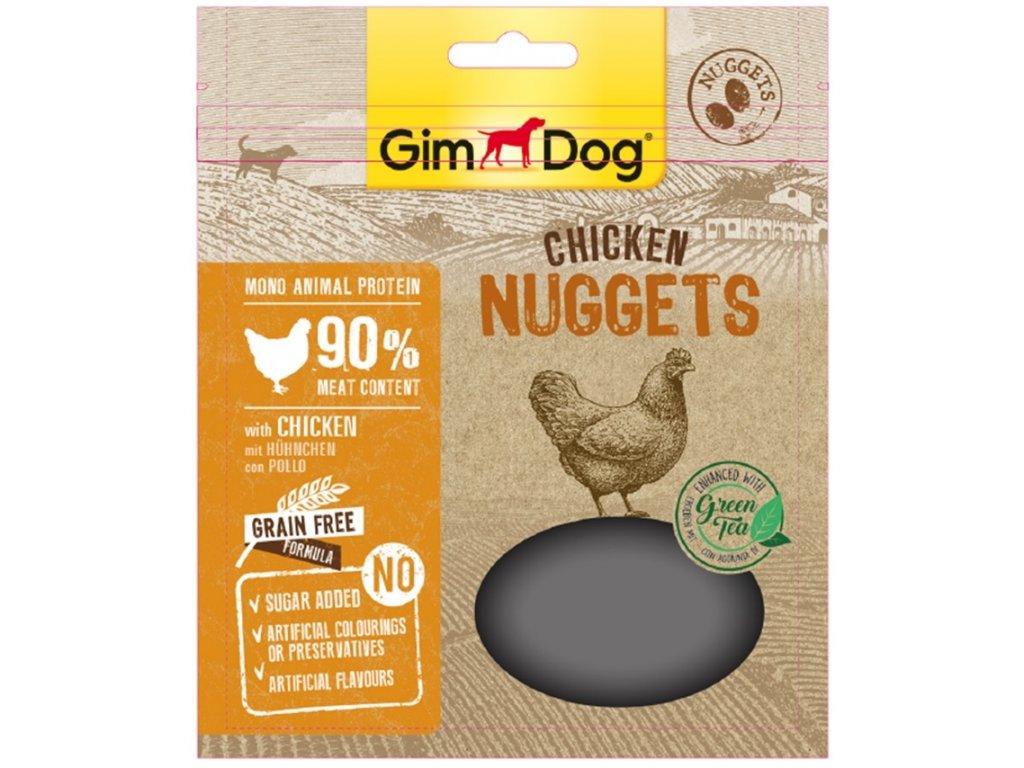 12072 gimdog supefood chicken nuggets se zelenym cajem 55g