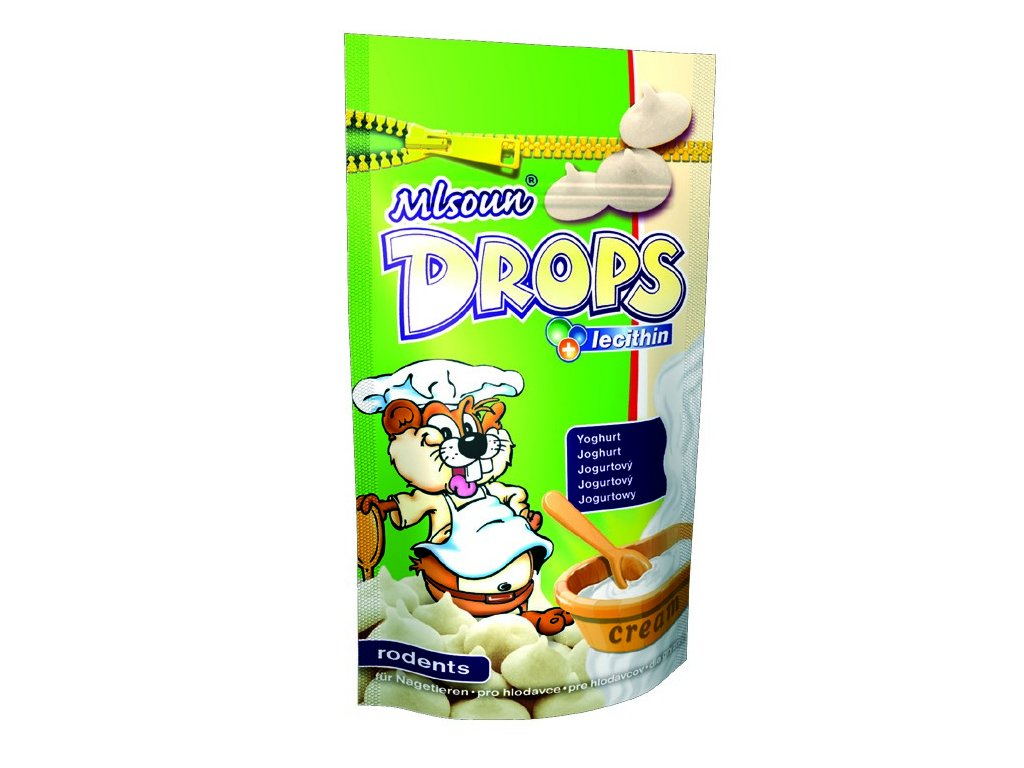1668 mlsoun drops pro hlodavce jogurtovy 75g