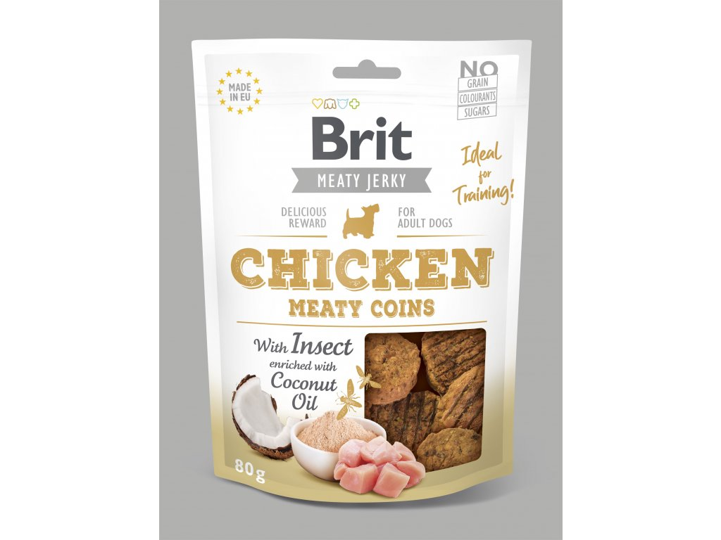 Brit Jerky Chicken with Insect Meaty Coins 80 g