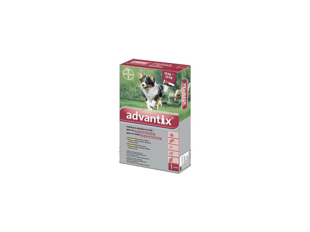 2202 advantix antiparazitikum pro psy 10 25 kg