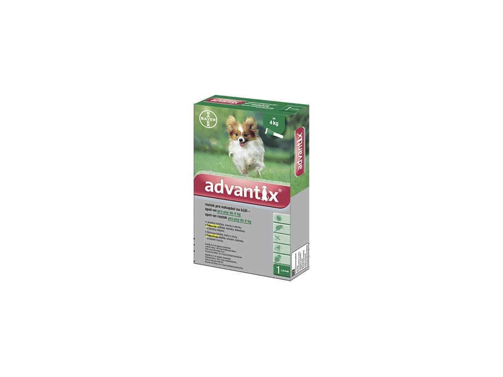 2208 advantix antiparazitikum pro psy do 4 kg