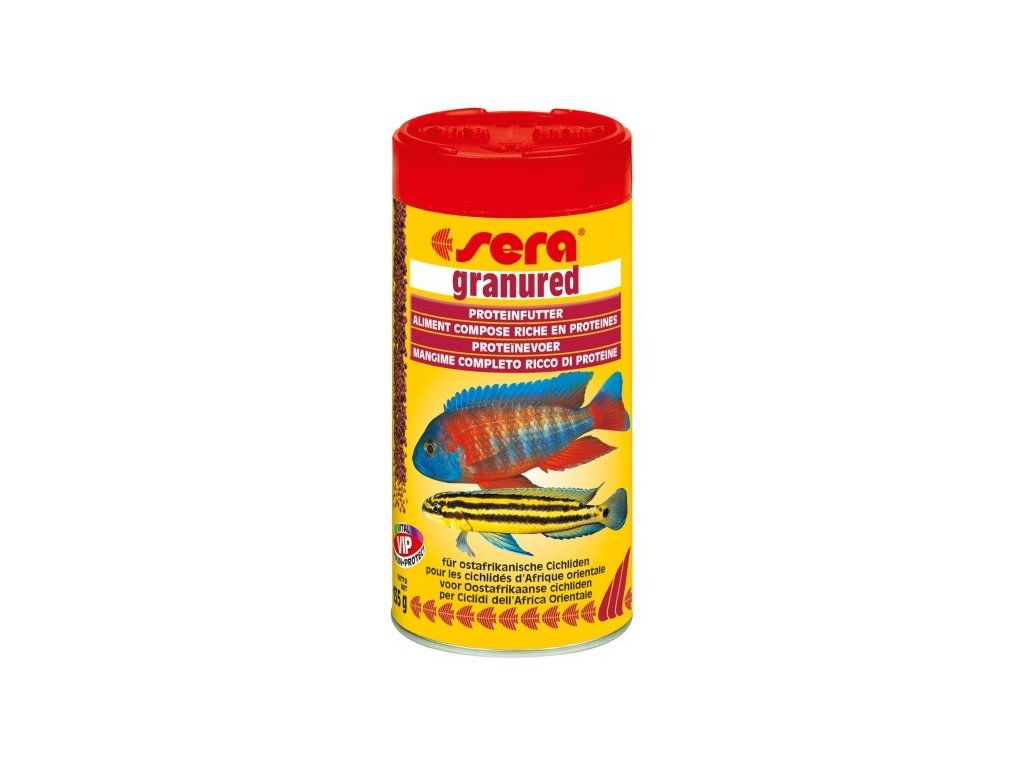 327 sera zakladni krmivo pro drave cichlidy granured 250ml
