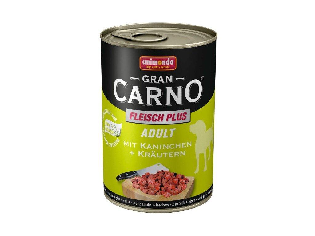 2742 animonda grancarno adult konzerva pro psy kralik bylinky 800g