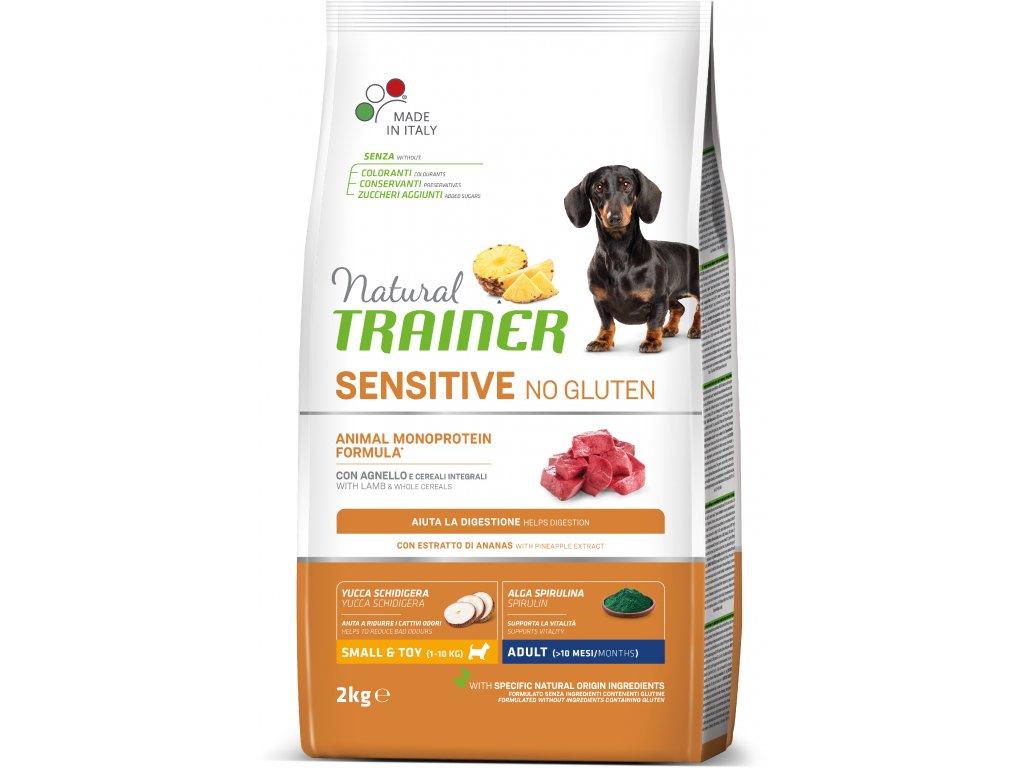Trainer Natural Sensitive No glutén Adult Mini jahňacie 2kg
