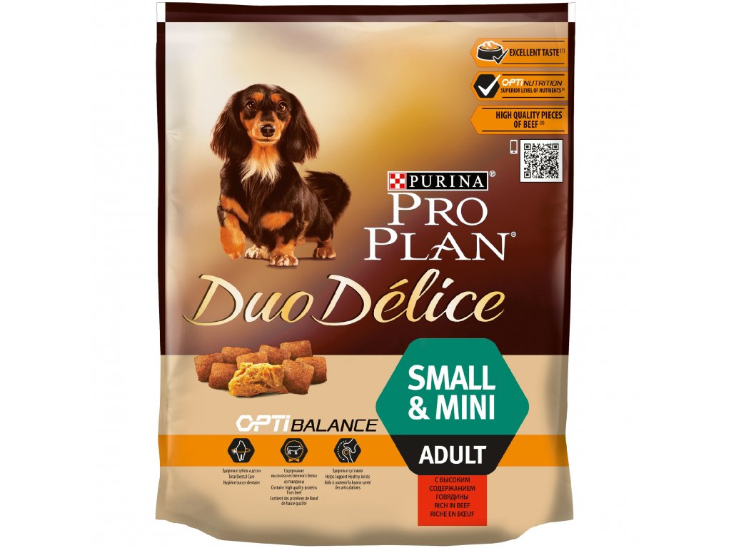 3717 purina pro plan duo delice adult small mini beef 700g