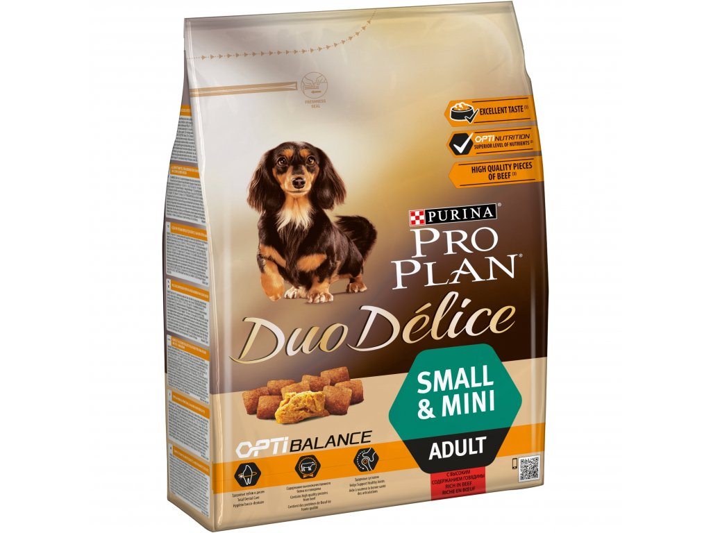 3720 purina pro plan duo delice adult small mini beef 2 5kg