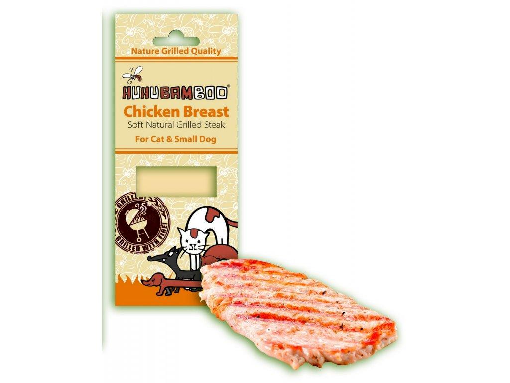3900 huhubamboo grilovany steak kureci pro psy 30g
