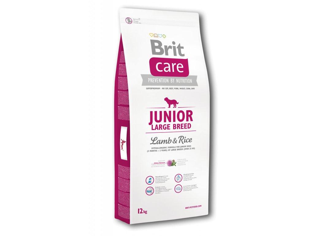 4188 1 brit care junior large breed lamb rice 12kg