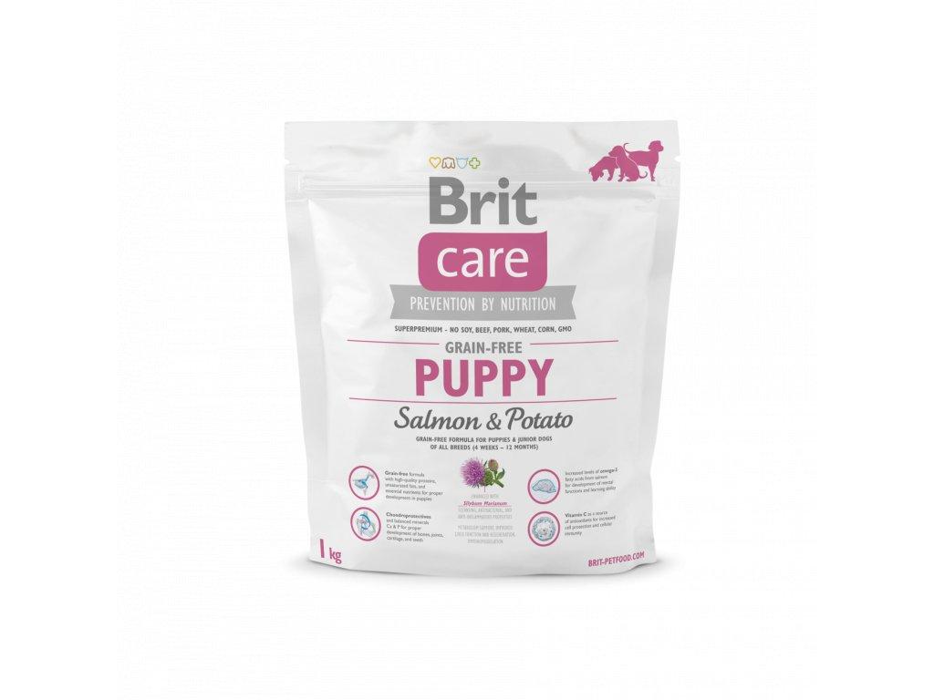 4239 brit care grain free puppy salmon potato 1kg