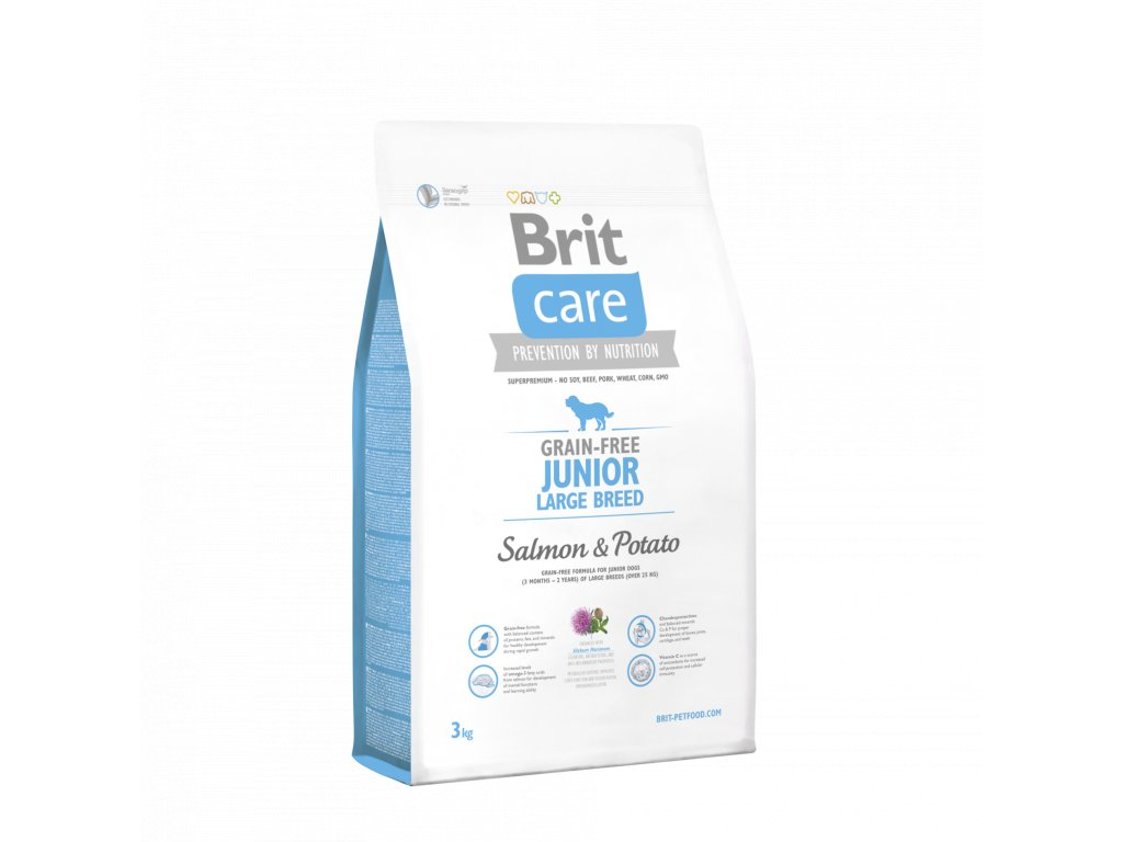 4245 brit care grain free junior large breed salmon potato 3kg