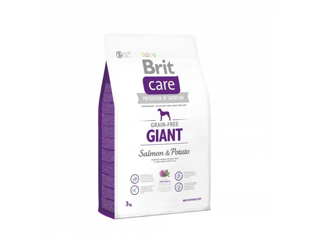 4272 brit care grain free giant salmon potato 3kg