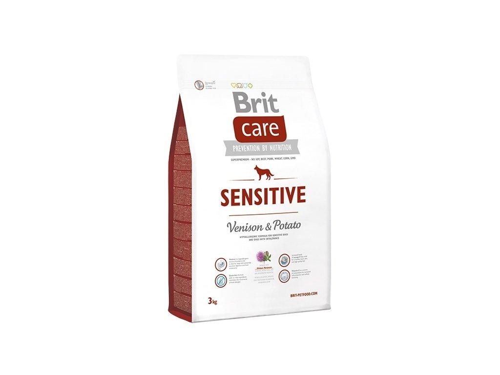 4317 brit care sensitive venison potato 3kg